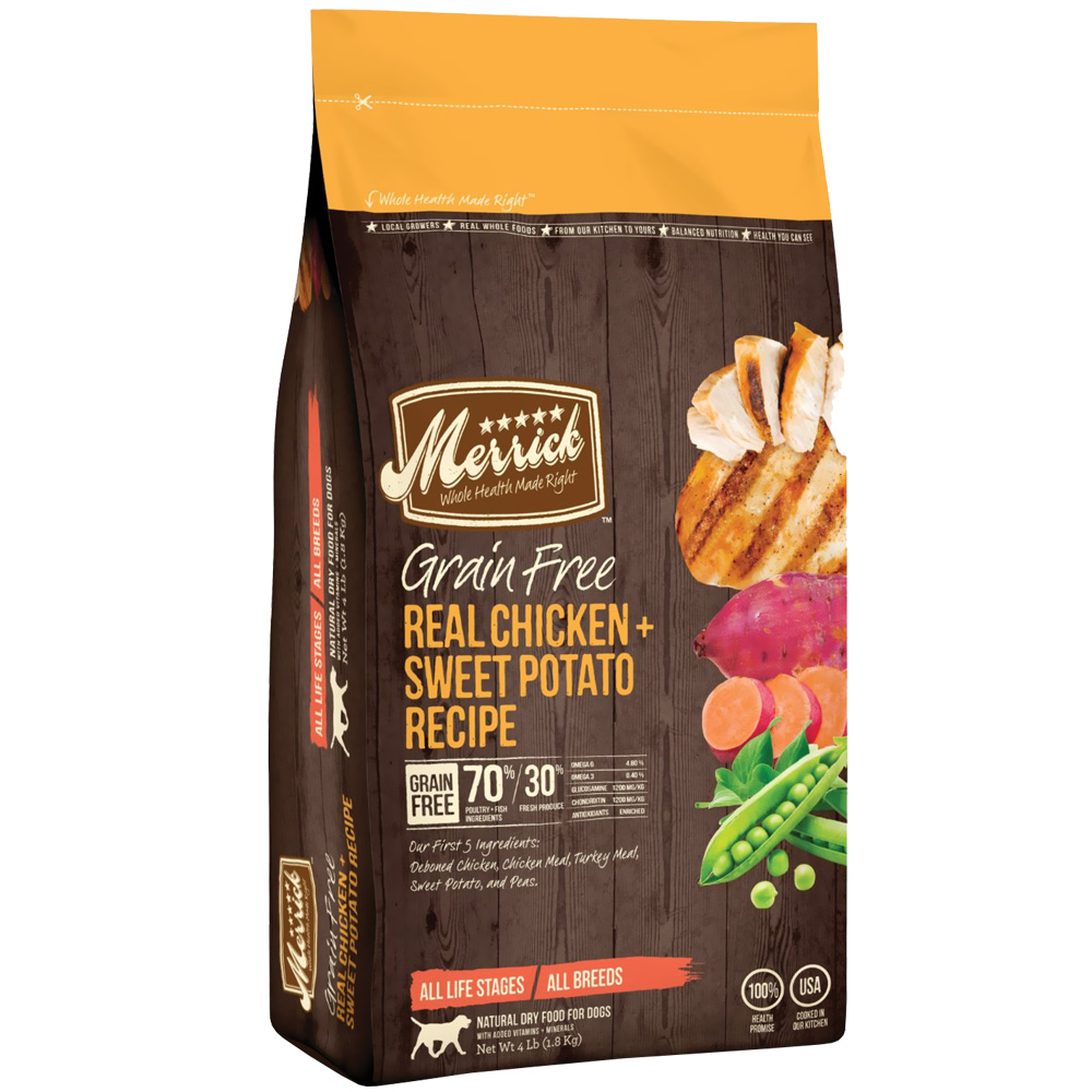 Merrick Grain Free - Real Chicken & Sweet Potato Dry Dog Food (4 lbs) im test