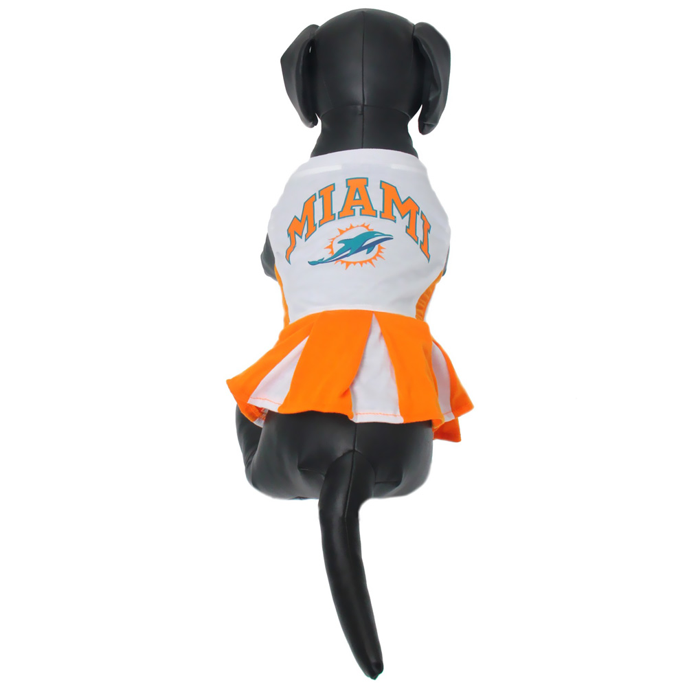 buy online 5d438 08b09 Miami Dolphins Cheerleader Dog Dress - Small