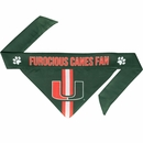 Miami Hurricanes Dog Bandana