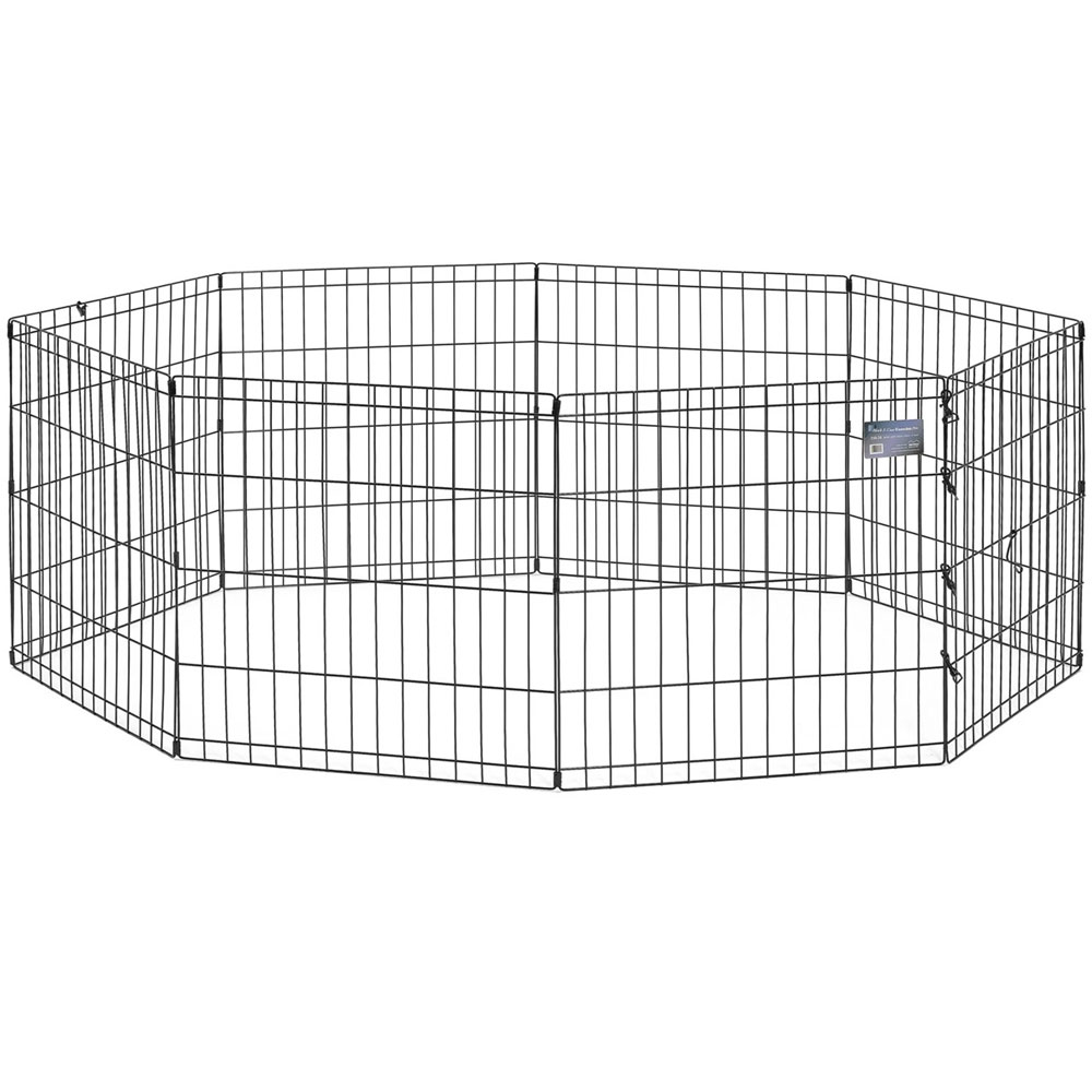 "Image of ""Midwest Black E-Coat Pet 8 Panel Exercise Pen (24""""x""""48"""")"""
