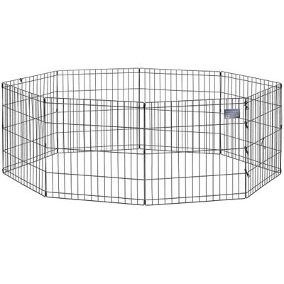 "Midwest Black E-Coat Pet 8 Panel Exercise Pen (24""x""48"")"