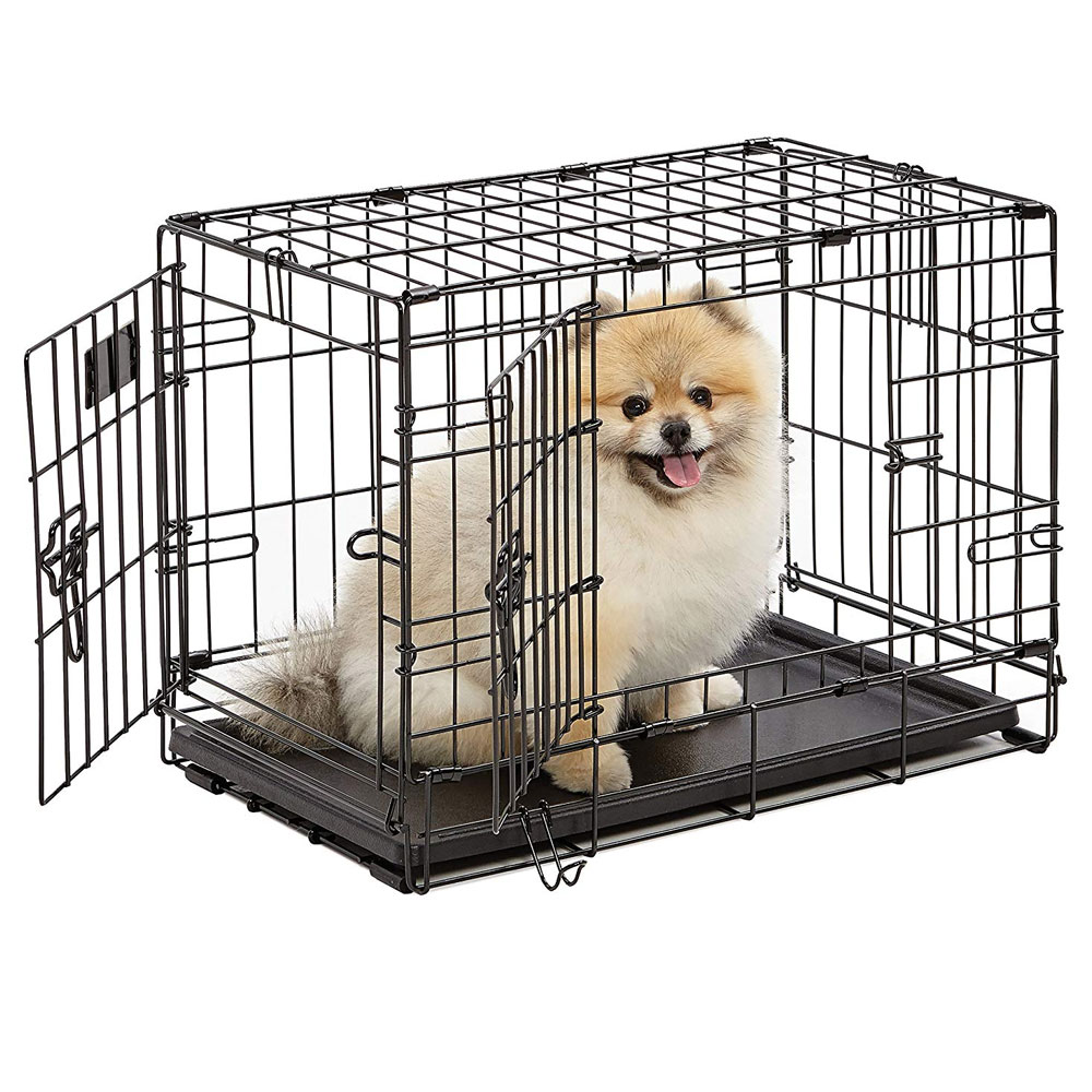 """Image of """"Midwest iCrate Double Door Dog Crate 22""""""""x""""""""13""""""""x""""""""16"""""""")"""""""
