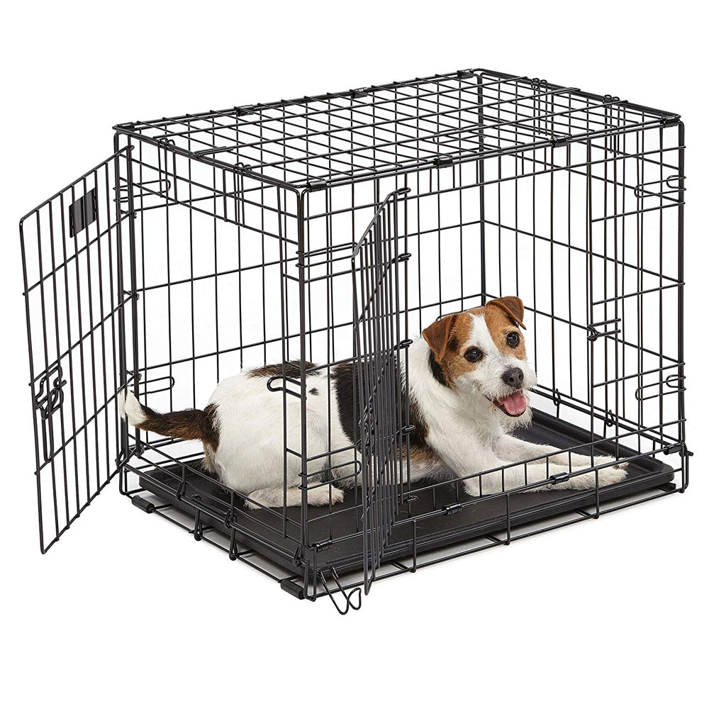 """Image of """"Midwest iCrate Double Door Dog Crate 24""""""""x""""""""18""""""""x""""""""19"""""""")"""""""