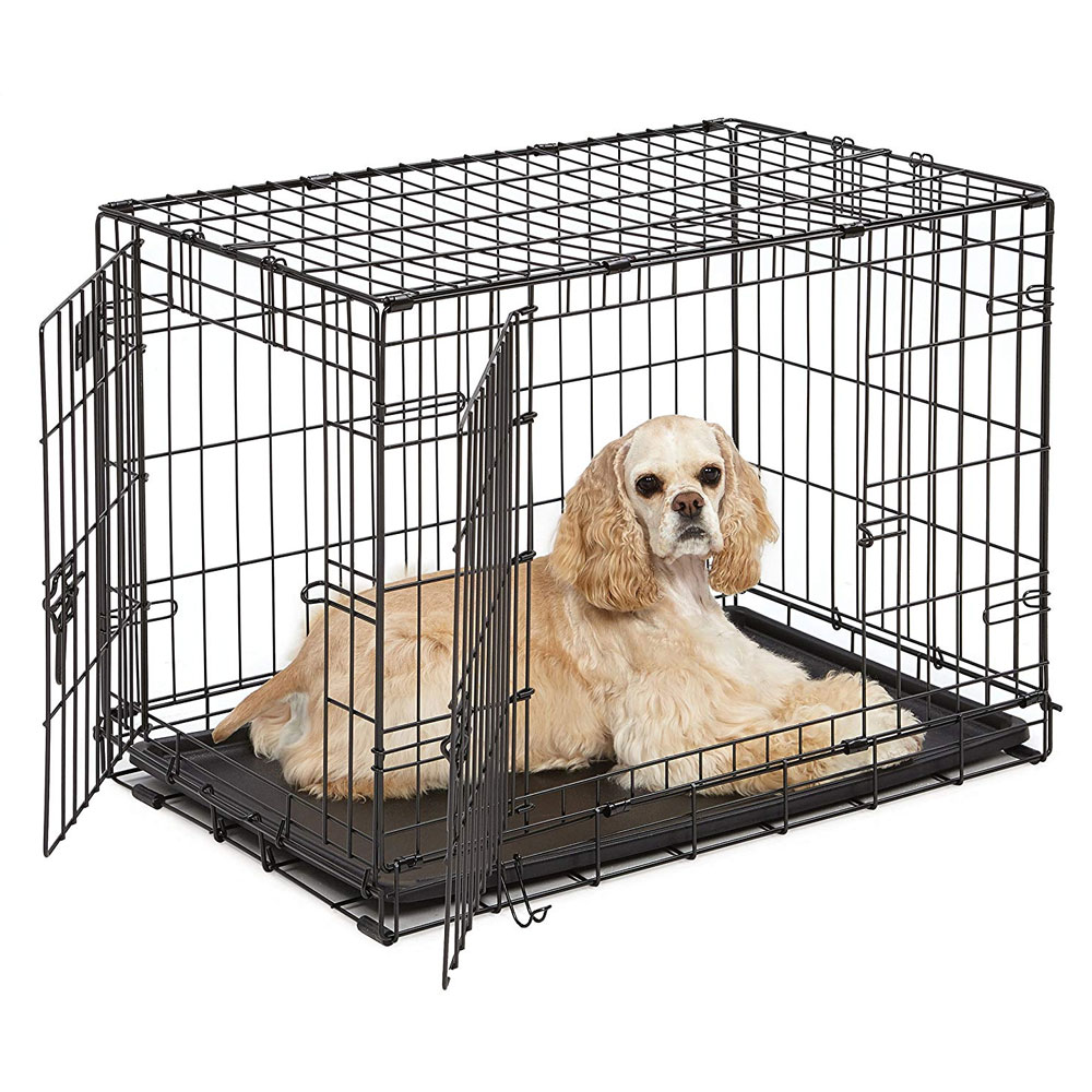 """Image of """"Midwest iCrate Double Door Dog Crate 30""""""""x""""""""19""""""""x""""""""21"""""""")"""""""