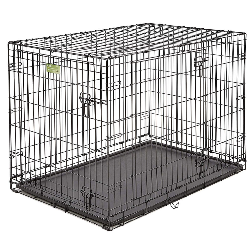 Midwest iCrate Double Door Dog Crate 42x28x30 - from EntirelyPets