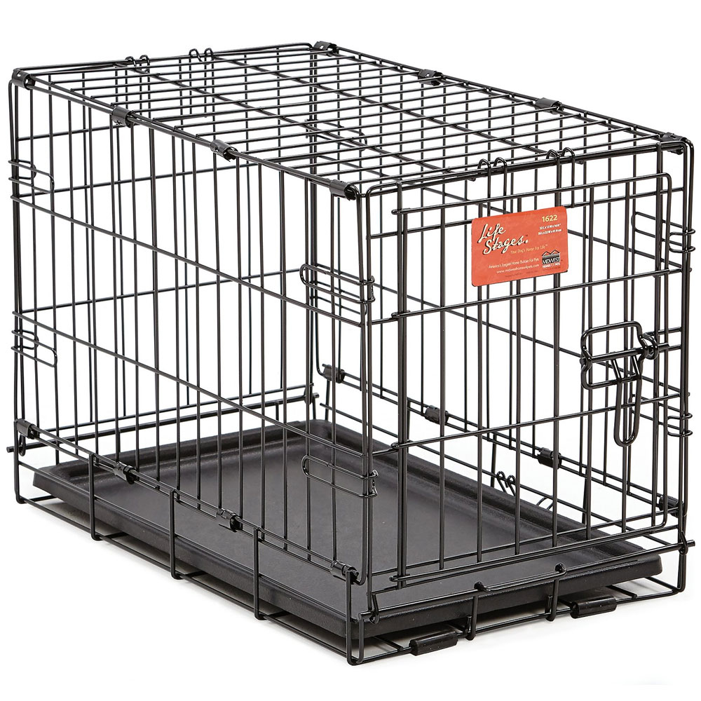 Midwest Life Stages ACE Single Door Dog Crate - 18x12x14 - from EntirelyPets