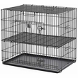 "Midwest Puppy Playpen with Plastic Pan & Half Inch Floor Grid - Black (24""x""36""x""30"")"
