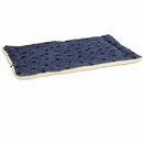 "Midwest Quiet Time Fleece Blue Paw Print Reversible Pet Bed & Crate (Mat 29""x""21"")"