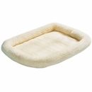 "Midwest Quiet Time Natural Fleece Pet Bed (46""x28"")"