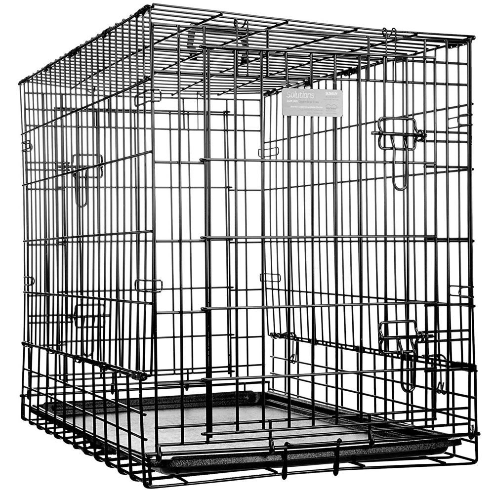 Midwest Solutions Series Side-by-Side Double Door SUV Dog Crate - 36x21x26 - from EntirelyPets