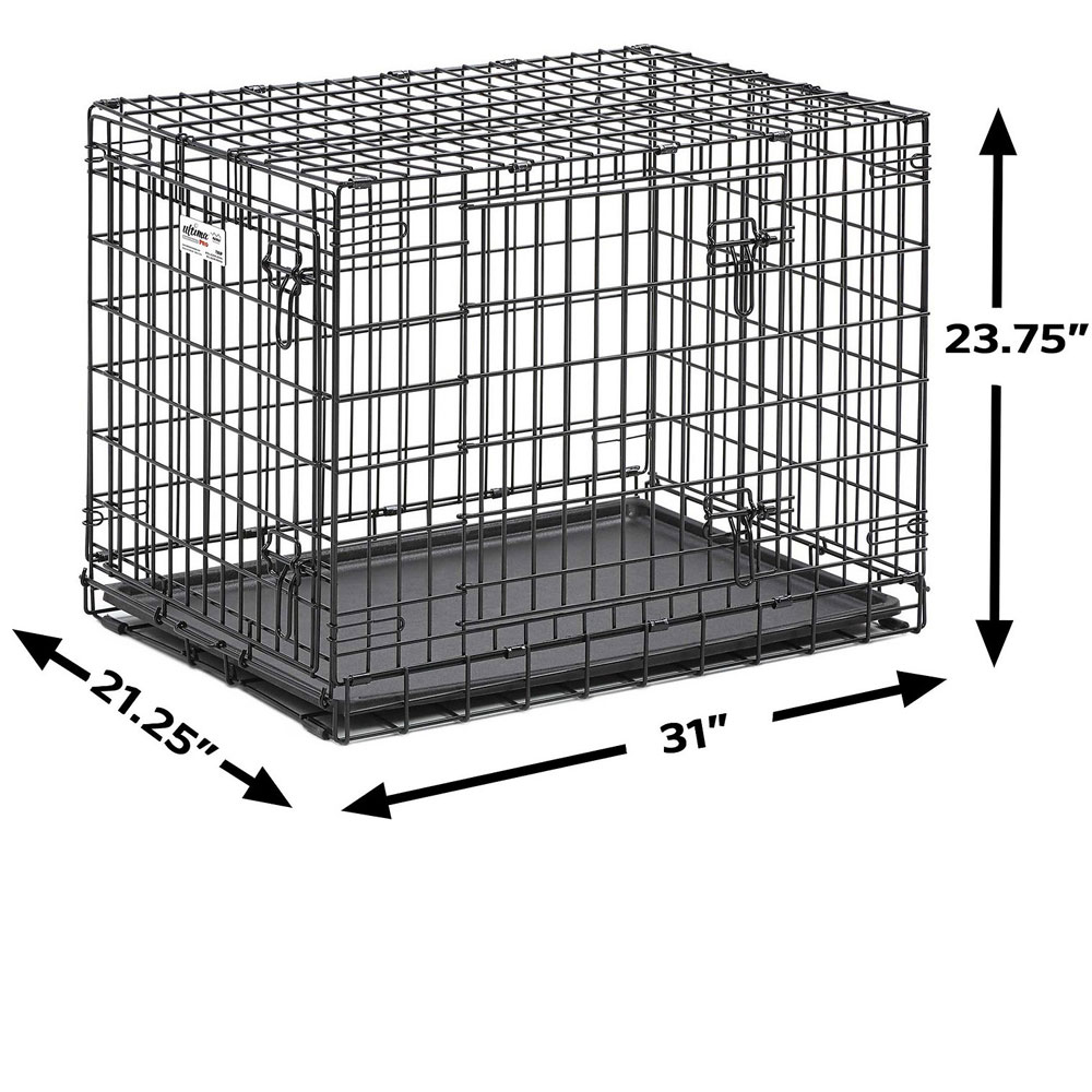 MIDWEST-ULTIMA-PRO-DOUBLE-DOOR-DOG-CRATE-31X22X24