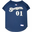 Milwaukee Brewers Dog Jerseys