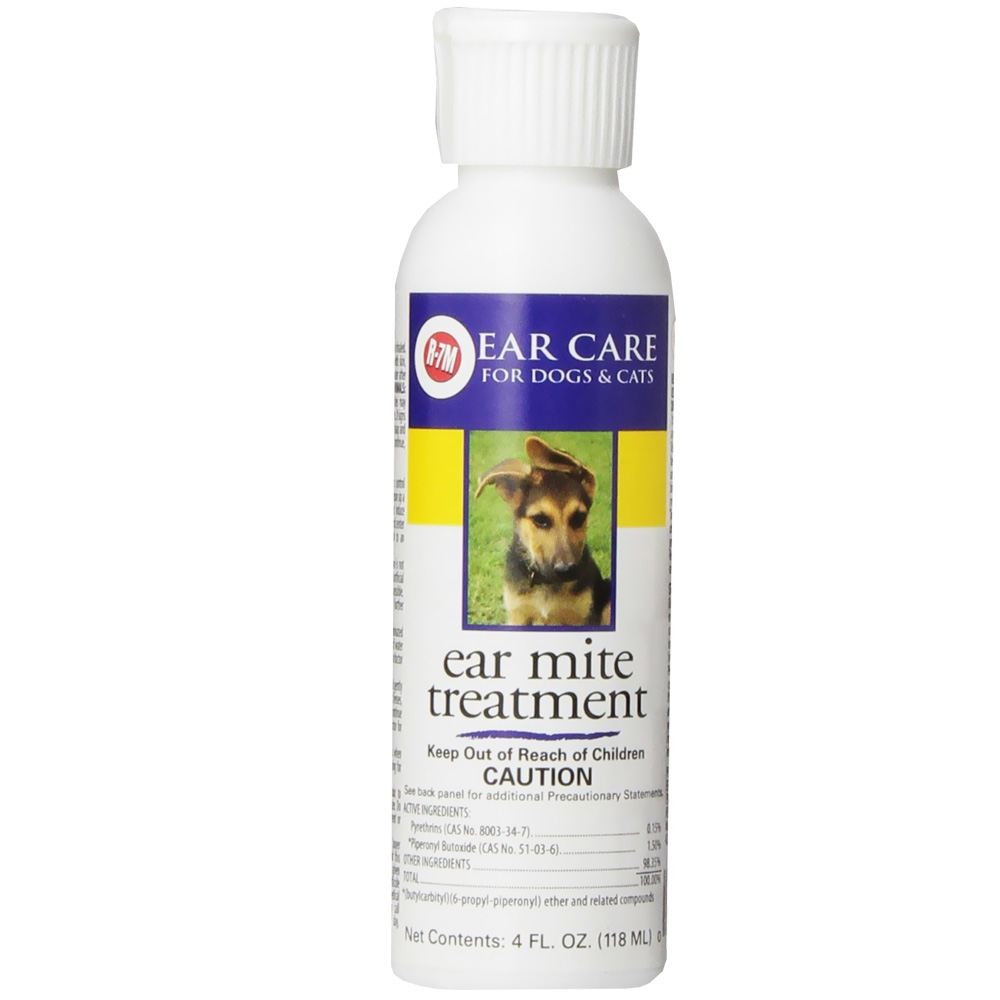 Miracle Care R-7M Ear Mite Treatment for Dogs (4 oz)