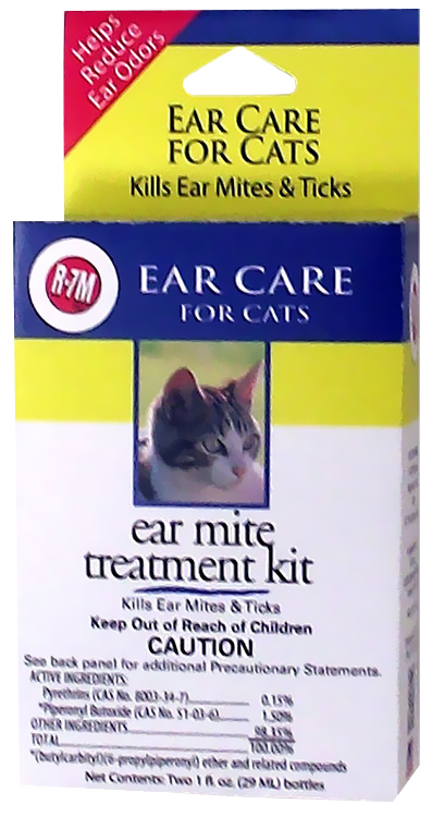 Image of Miracle Care R-7M Ear Mite Treatment Kit for Cats (2 oz)