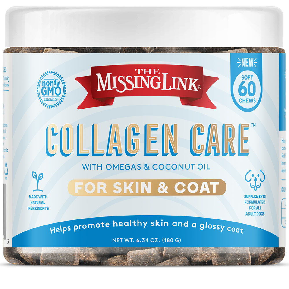 Missing Link Collagen Care Skin and Coat Soft Chews for Dogs (60 Soft Chews) im test