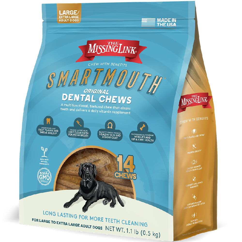 Missing Link Smartmouth Dental Chews for Dogs Large/XLarge (14 count) im test
