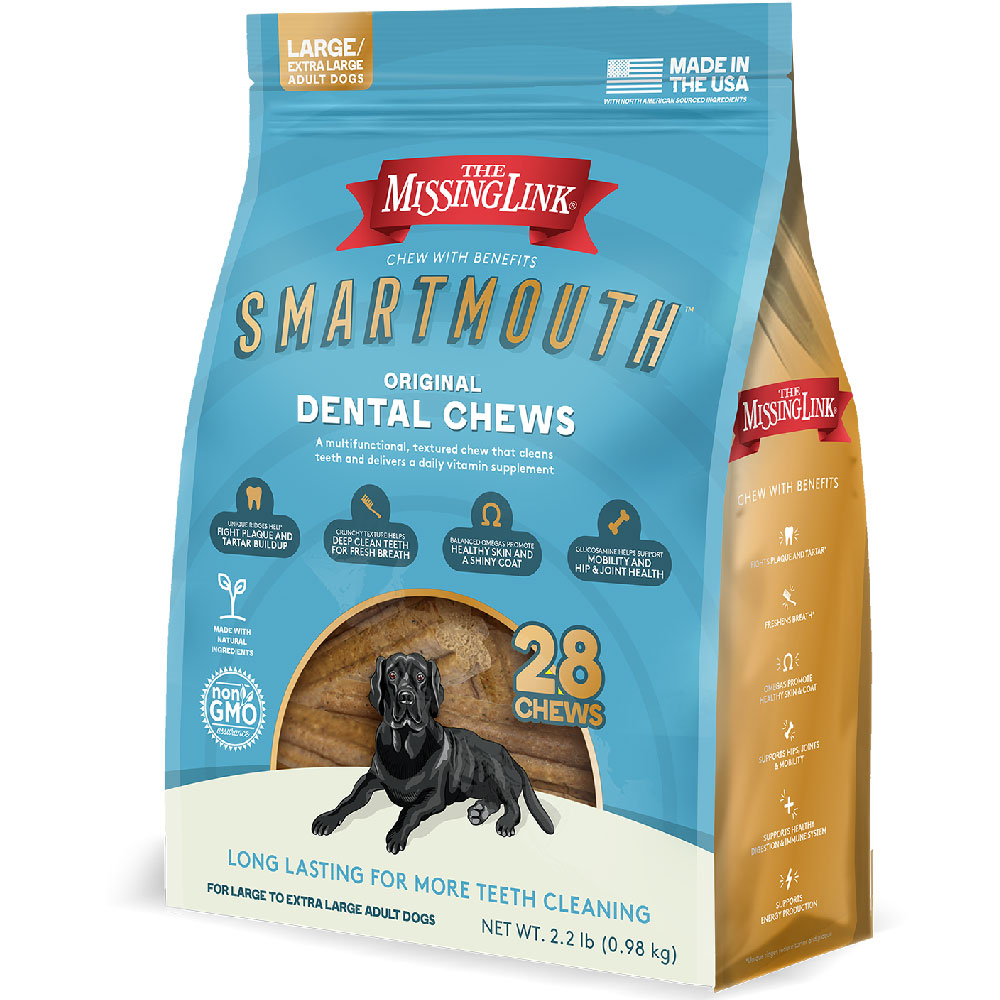 Missing Link Smartmouth Dental Chews for Dogs Large/XLarge (28 count) im test