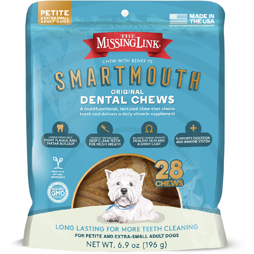 Missing Link Smartmouth Dental Chews for Dogs Petite/XSmall (28 count) im test