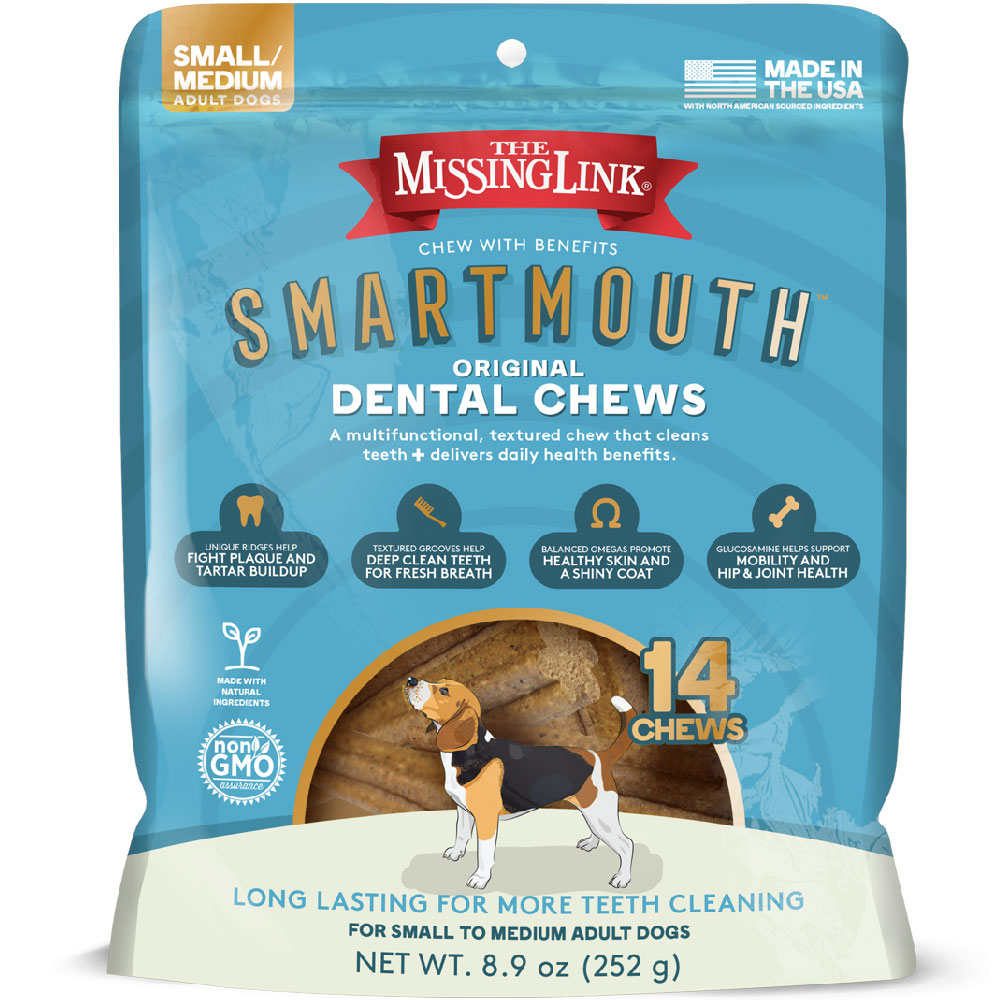 Missing Link Smartmouth Dental Chews for Dogs Small/Medium (14 count) im test