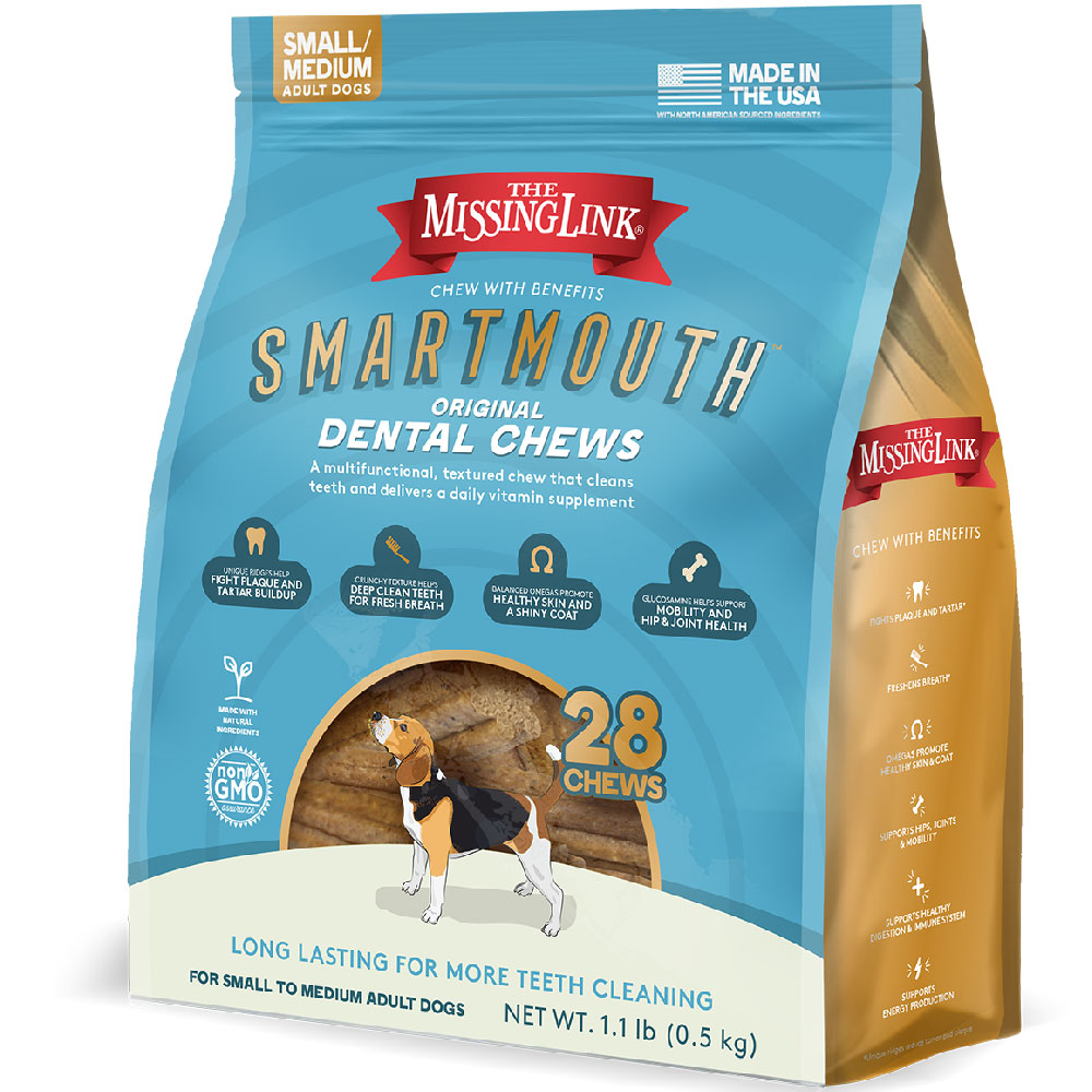 Missing Link Smartmouth Dental Chews for Dogs Small/Medium (28 count) im test