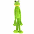 "Multipet Swingin Slevins Plush Dog Toy 30"" - Frog"