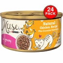 Muse Natural Chicken Cat Food in Gravy (24x3oz)