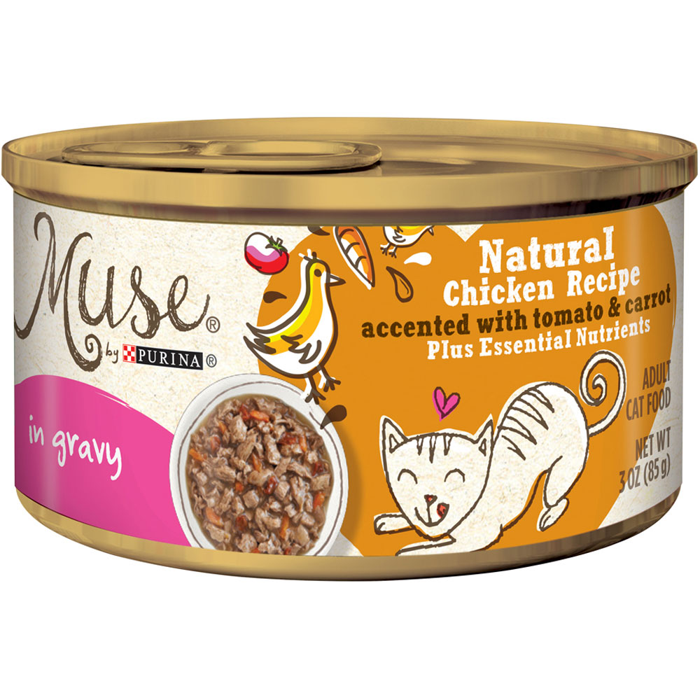 Purina Muse Natural Chicken with Tomato & Carrot Cat Food in Gravy (3 oz) im test