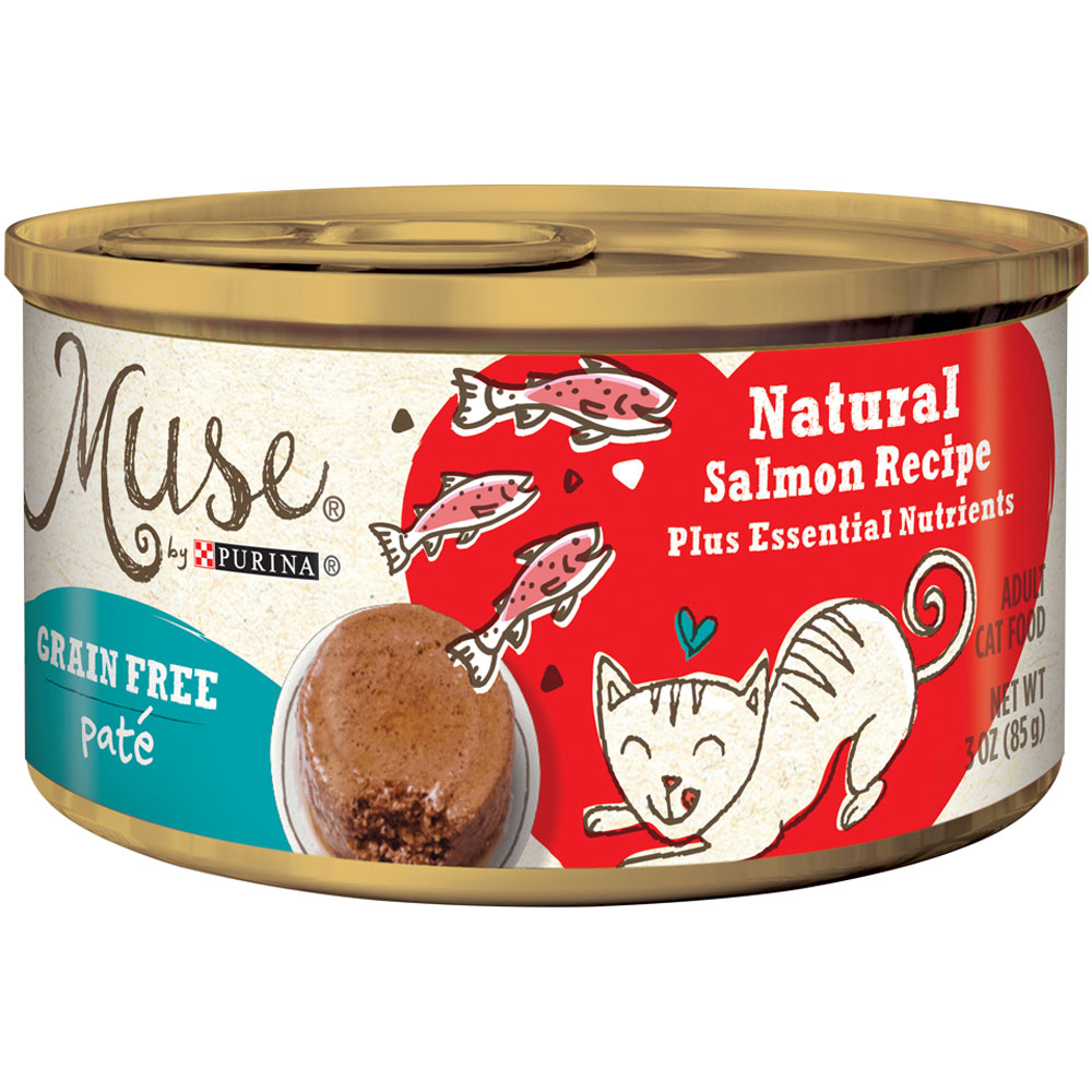 Purina Muse Natural Salmon Cat Food in Gravy (3 oz) im test