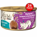 Purina Muse Natural Salmon & Shrimp Cat Food Pate (24x3oz)