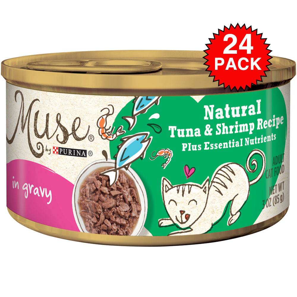Purina Muse Natural Tuna & Shrimp Cat Food in Gravy (24x3oz) im test