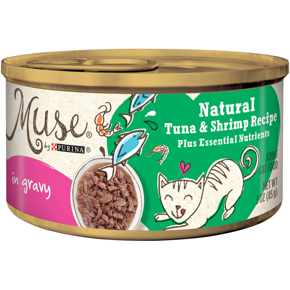 Purina Muse Natural Tuna & Shrimp Cat Food in Gravy (3 oz) im test