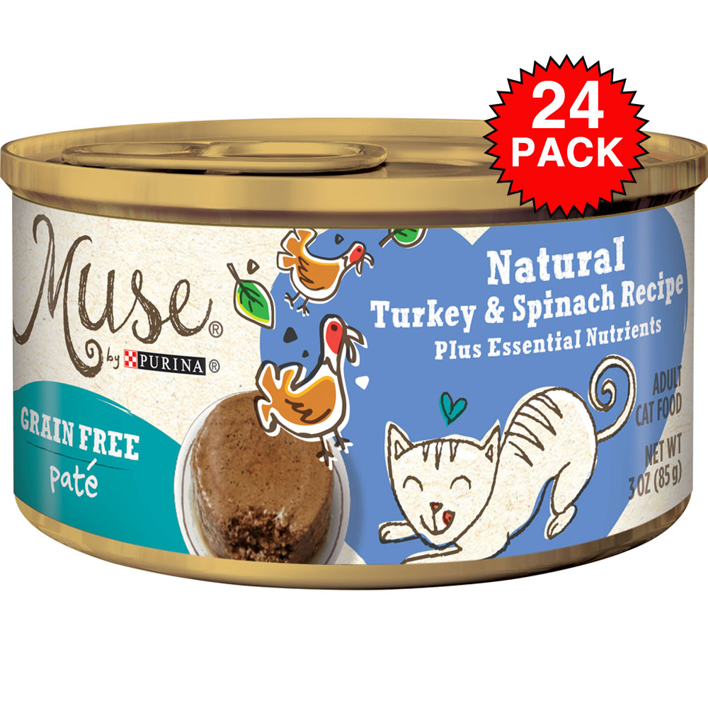 Purina Muse Natural Turkey & Spinach Cat Food Pate (24x3oz) im test