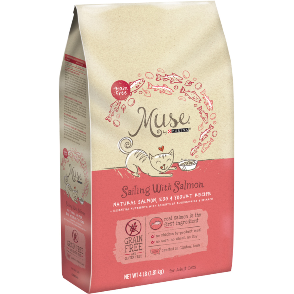 Purina Muse Sailing with Salmon, Egg & Yogurt Recipe Dry Cat Food (4 lb) im test