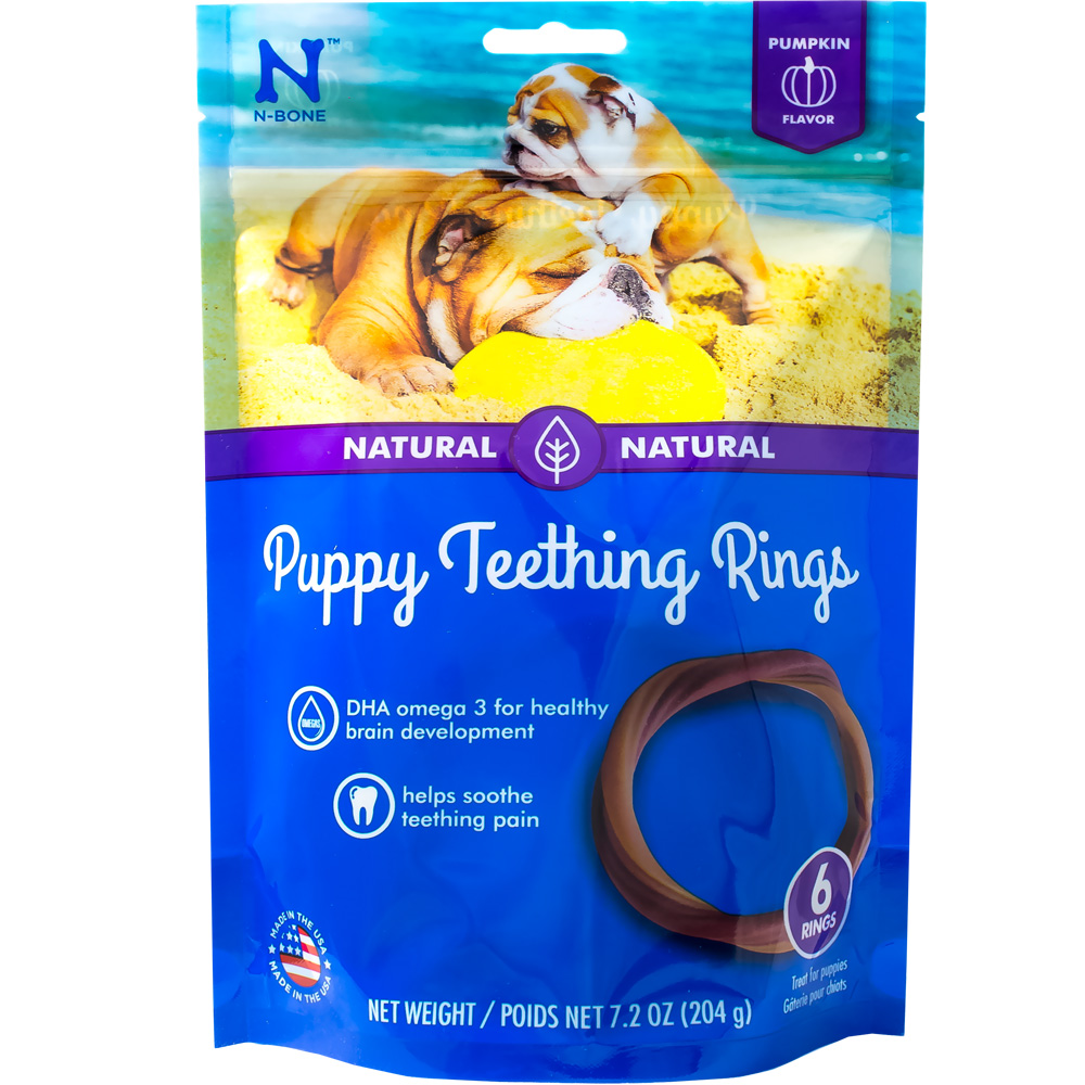 N-BONE-PUPPY-TEETHING-RING-PUMPKIN-6-PACK