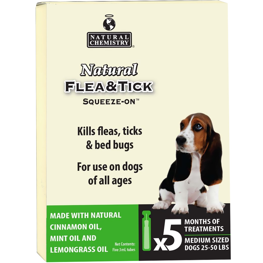 Image of Natural Chemistry Natural Flea & Tick Squeeze-On for Dogs 25-50 lbs (5 months)