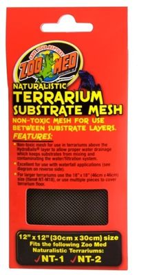 Zoo Med Naturalistic Terrarium Mesh - fits NT-1, NT-2 - 12x12 from EntirelyPets