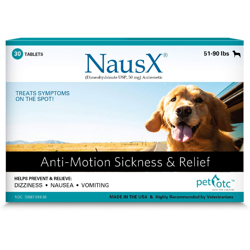 NausX Anti-Motion Sickness & Relief 51-90 lbs (30 tablets)