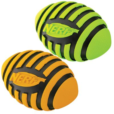 Nerf Dog Spiral Squeak Football - Small (3.5 in)