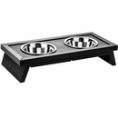 New Age Pet Adjustable Height Diner - Espresso Large