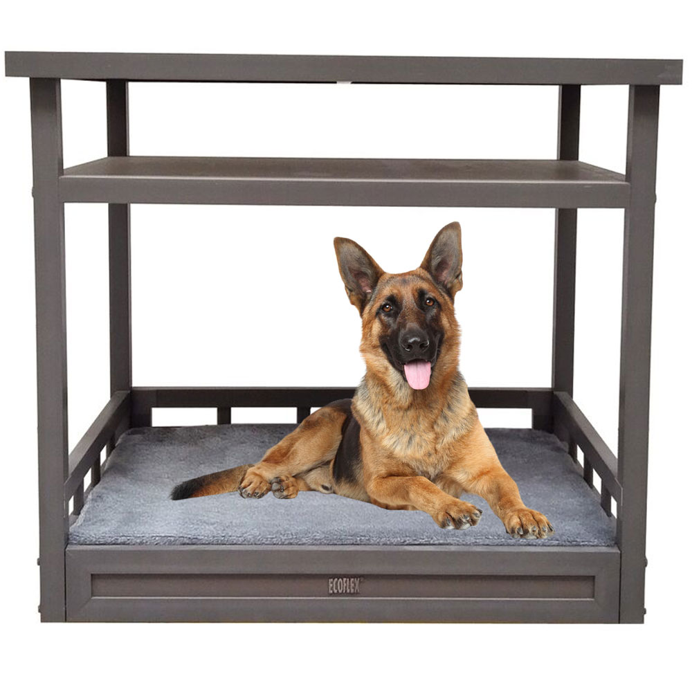 NEW-AGE-PET-DOG-BED-NIGHTSTAND-GREY