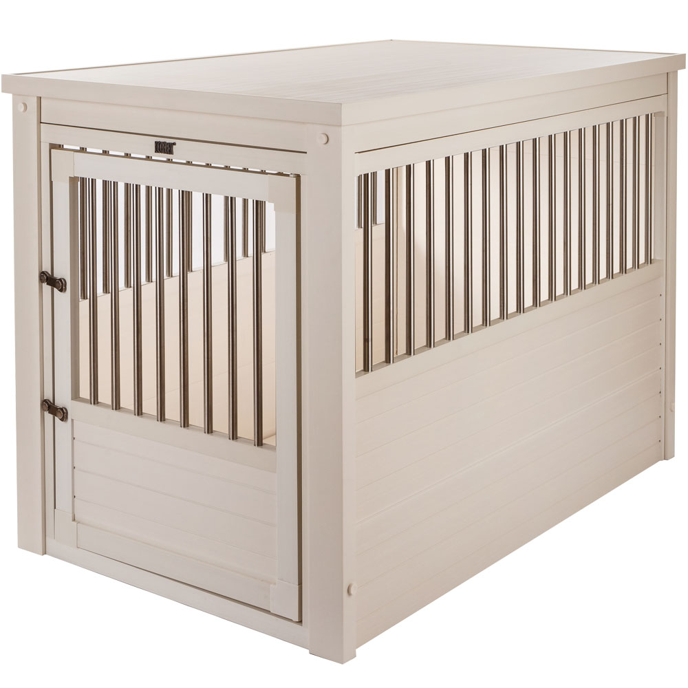 Image of New Age Pet Dog Crate - Antique White Large