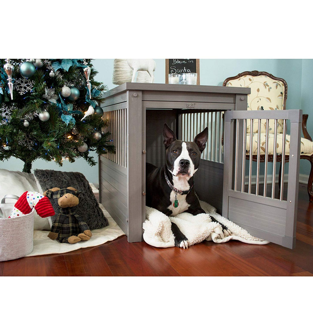 NEW-AGE-PET-DOG-CRATE-ANTIQUE-WHITE-SMALL