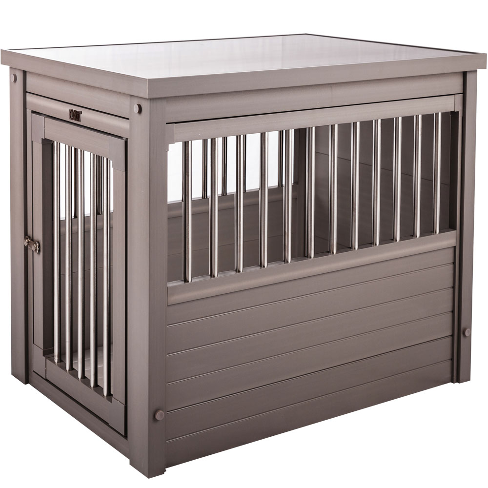 Image of New Age Pet Dog Crate - Grey Small