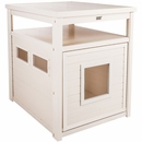 New Age Pet Jumbo LitterLoo Litter Box Cover/End Table - Antique White