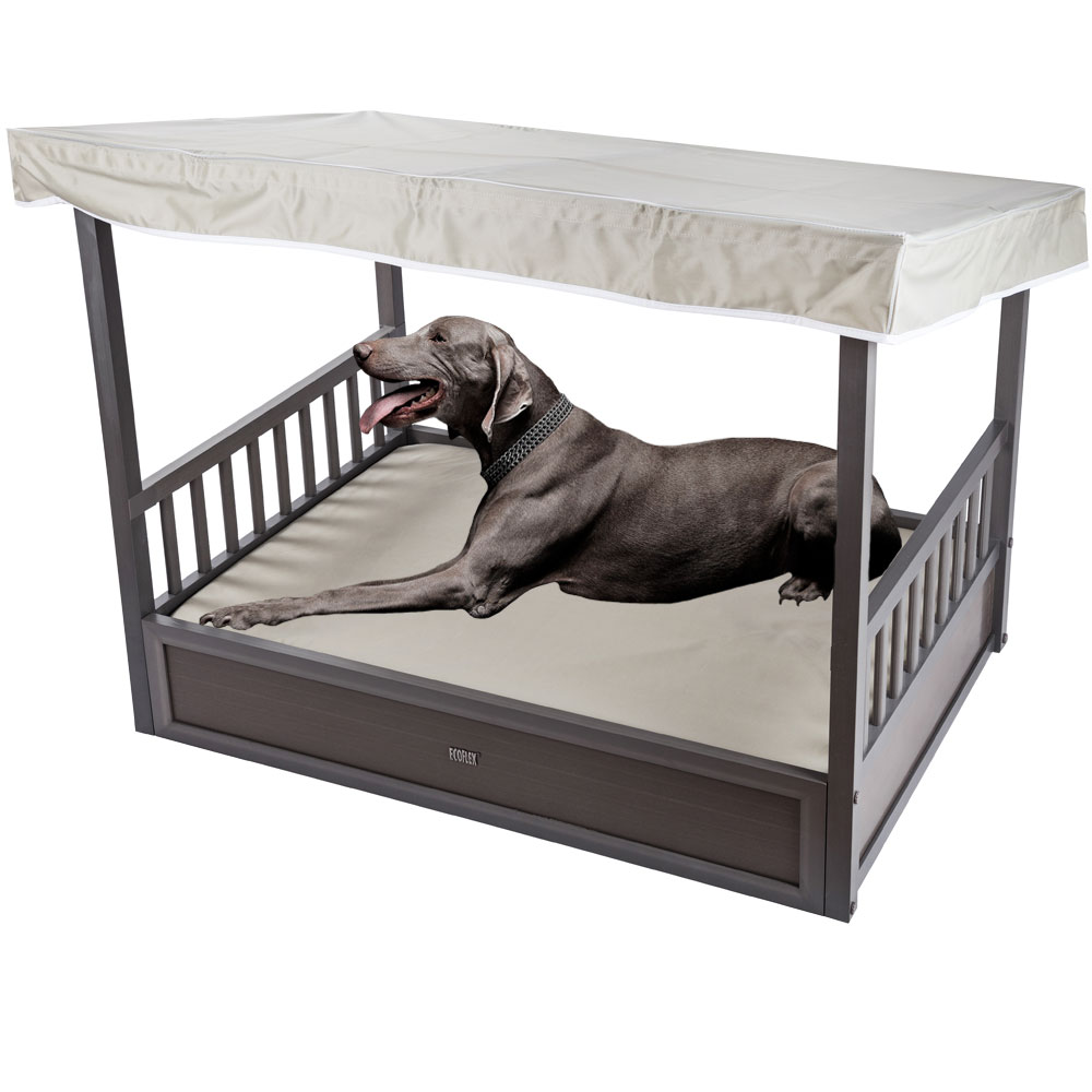 NEW-AGE-PET-OUTDOOR-DOG-BED-COVER-GREY