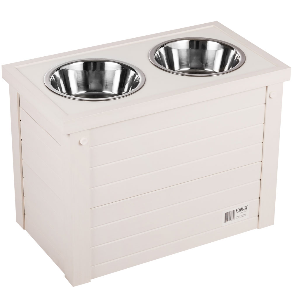 Image of New Age Pet Piedmont Diner with Storage - Antique White