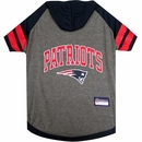 New England Patriots Dog Hoody Tee Shirt - Large