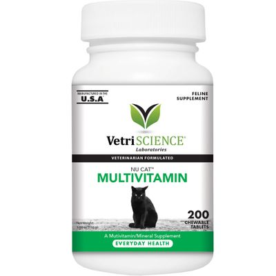 NuCat Multivitamin for Cats (200 Chewable Tablets)