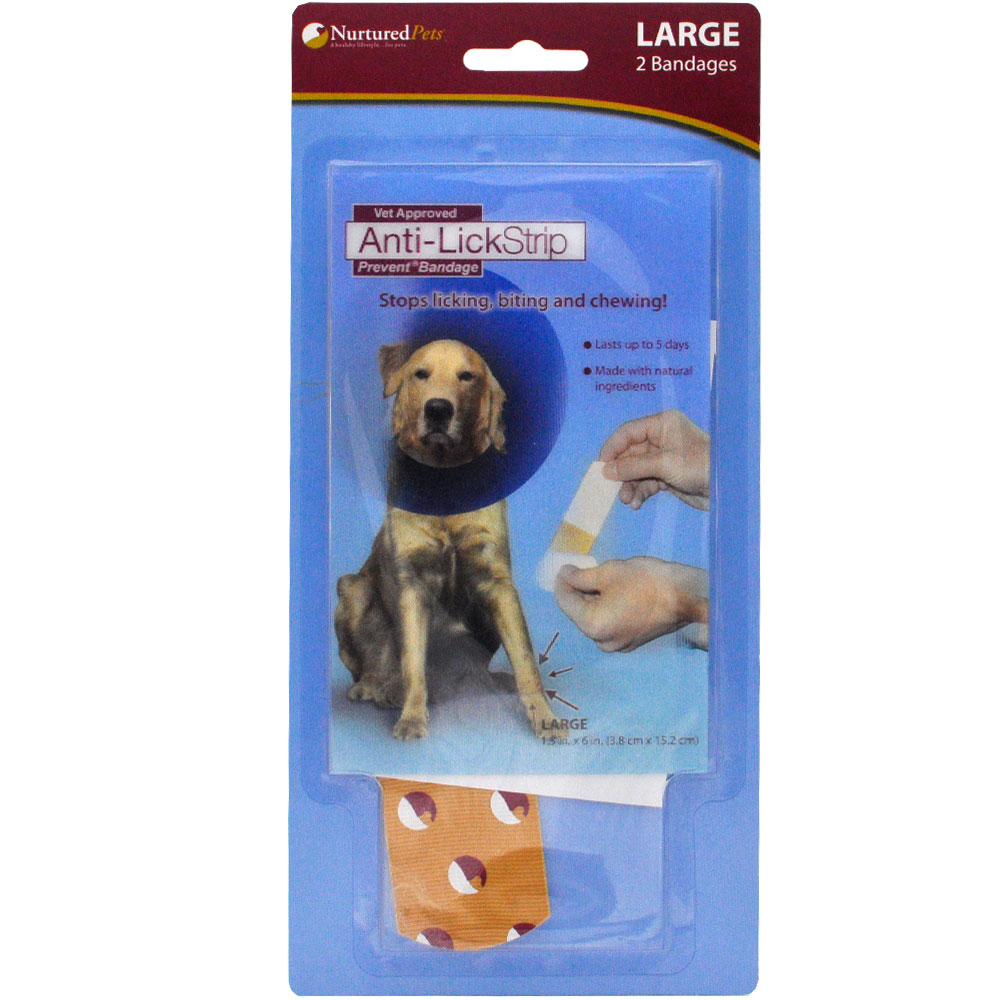 Image of Nurtured Pets Anti-Lick Strip Prevent - Large (Pack of 2)