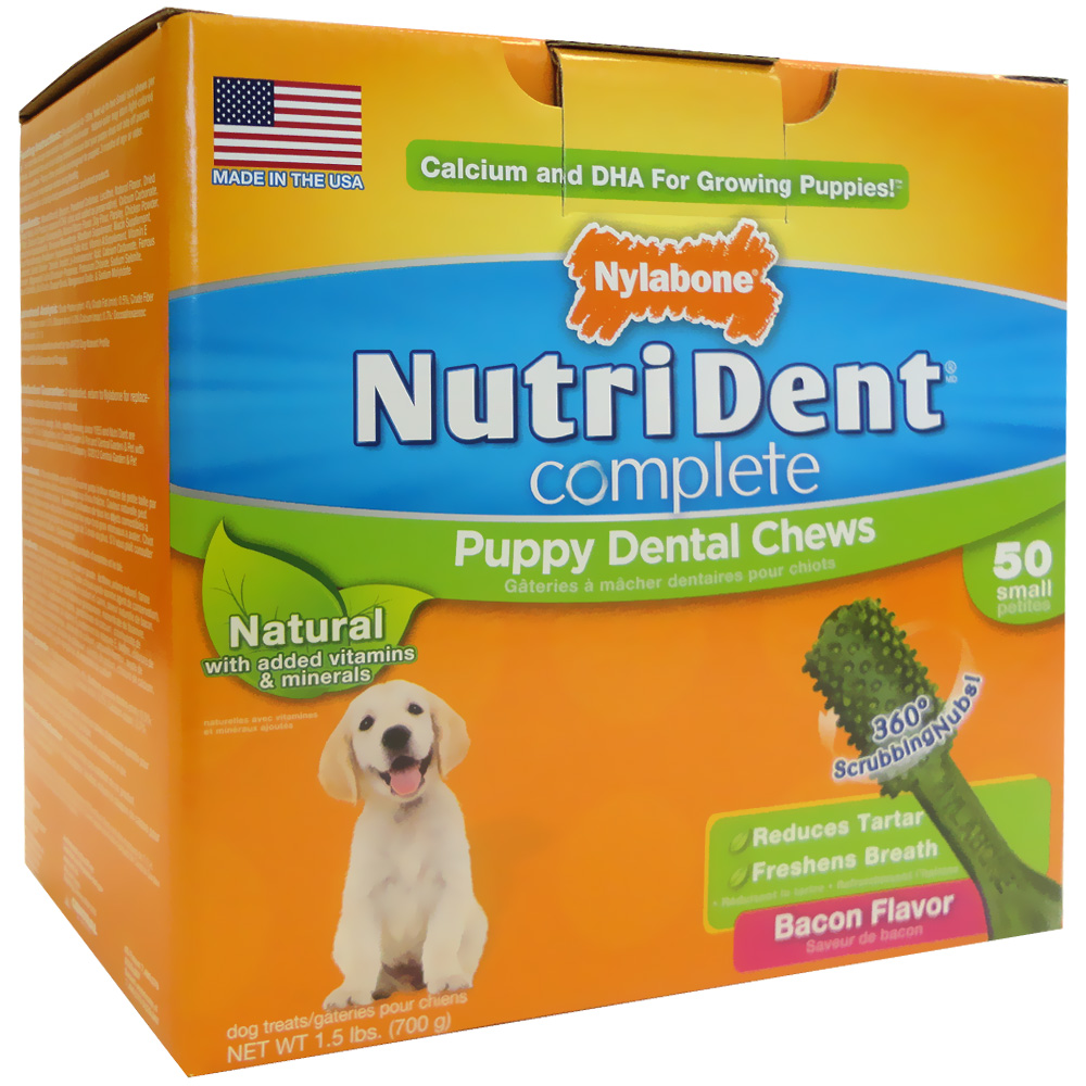NUTRI-DENT-PUPPY-DENTAL-CHEW-BACON-SMALL-50-COUNT